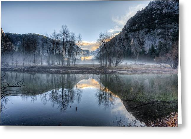 Half Elf Greeting Cards - Mist in the Valley Greeting Card by Mike Lee