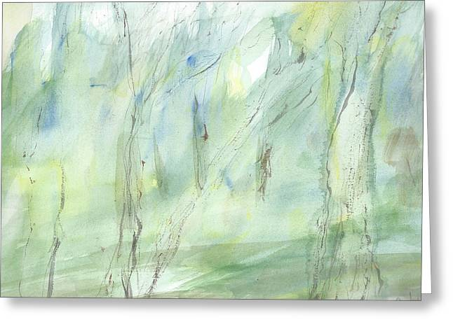 Treatment Mixed Media Greeting Cards - Mist Greeting Card by Jonh Doe