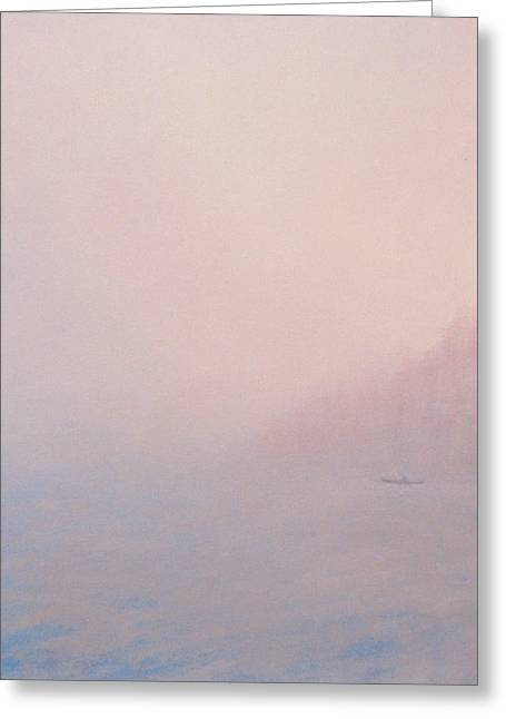 Maine Shore Greeting Cards - Mist Off Shore Greeting Card by J Kelsey