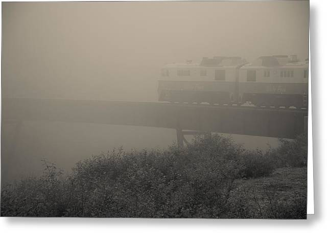Klondike Gold Rush Greeting Cards - Mist On White Pass Railroad Greeting Card by Steven Bateson