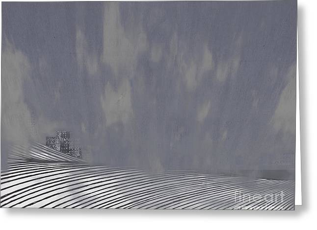 Fog Mist Drawings Greeting Cards - Mist rolls in Greeting Card by Andy  Mercer