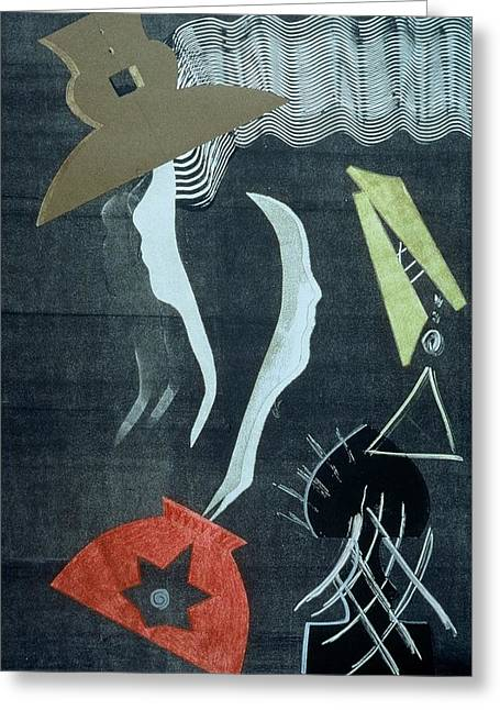 Printmaking Reliefs Greeting Cards - Mistaken Identity Series #1 Greeting Card by Francisco Gonzalez
