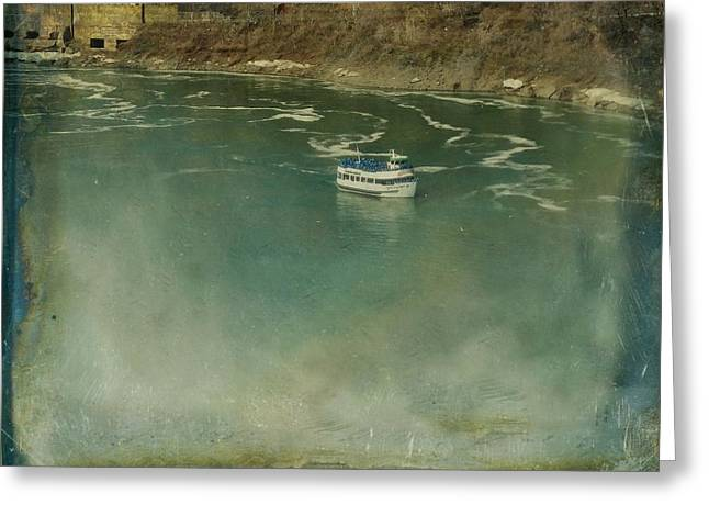 Boats On Water Digital Greeting Cards - Misted Ride Greeting Card by Gothicolors Donna Snyder