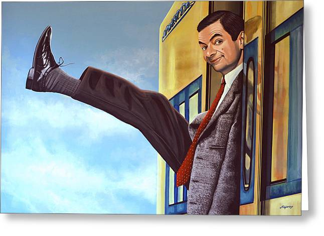 James Paintings Greeting Cards - Mister Bean Greeting Card by Paul  Meijering