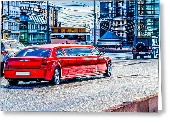 Limo Greeting Cards - Mister Big Greeting Card by Alexander Senin