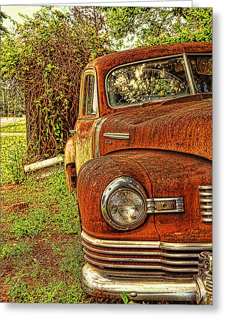 Rusted Cars Greeting Cards - Mister Brown Greeting Card by Toni Hopper