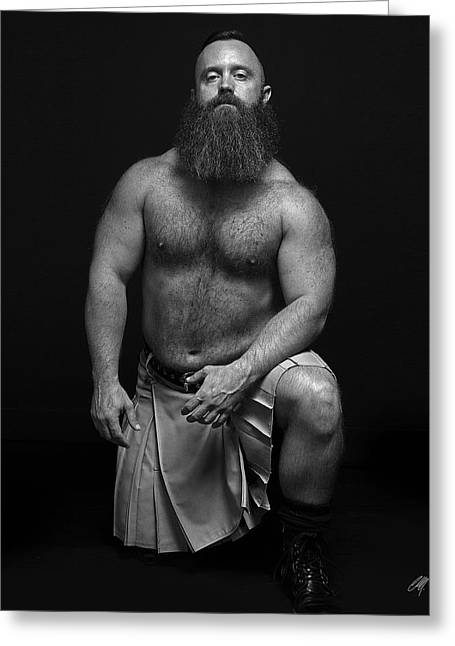 Kilt Greeting Cards - Mister R Greeting Card by Chris  Lopez