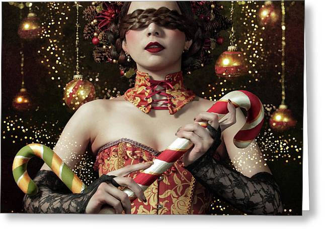 Mistress Of The Bright Night Greeting Card by Kiyo Murakami