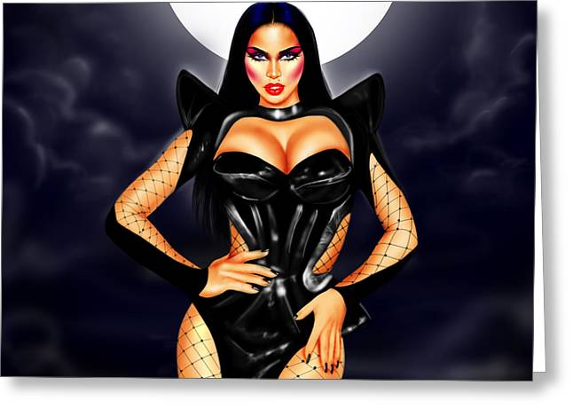 Photorealism Greeting Cards - Mistress of the Dark Greeting Card by Davonte Bailey