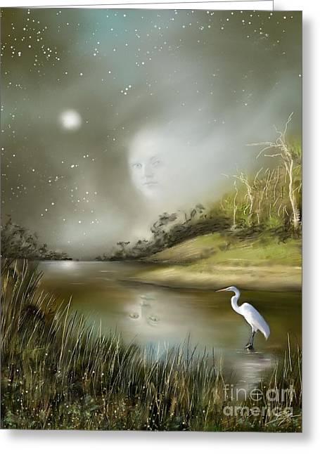 Mistress Of The Glade Greeting Card by Susi Galloway