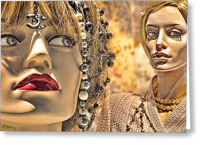 She Greeting Cards - Mistrust Greeting Card by Chuck Staley