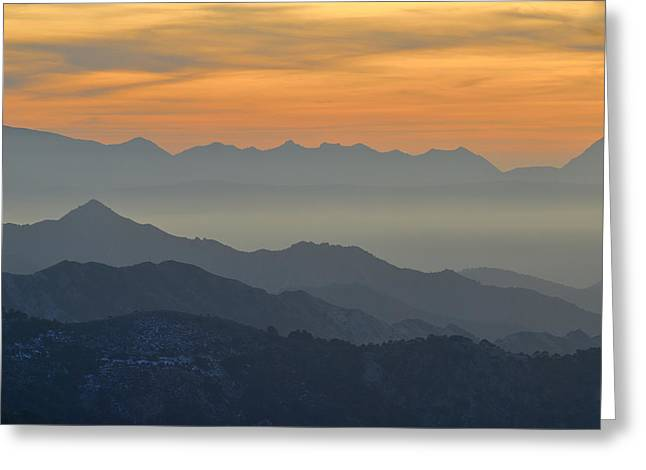 Mists In The Mountains At Sunset Greeting Card by Guido Montanes Castillo