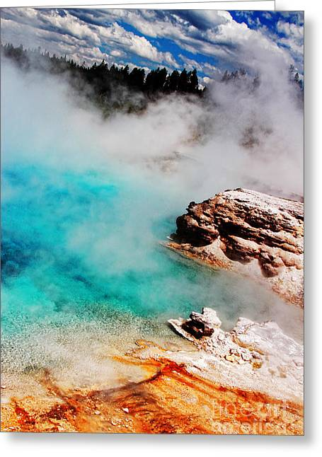 Recently Sold -  - Geology Photographs Greeting Cards - Mists of Another World Greeting Card by Lincoln Rogers