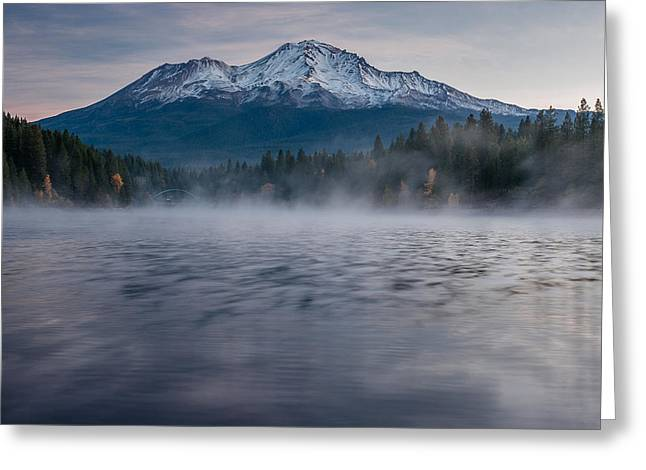 Mists On Siskiyou Lake Greeting Card by Greg Nyquist