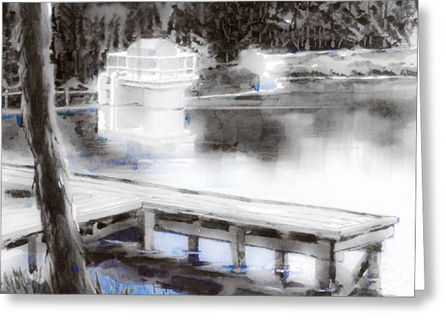 Misty Blue Greeting Card by Kip DeVore