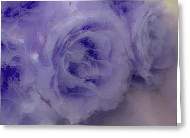 Rose Greeting Cards - Misty Blues Greeting Card by  The Art Of Marilyn Ridoutt-Greene