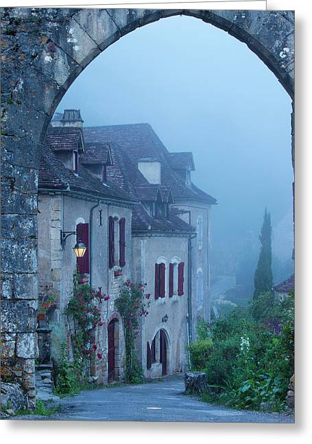 Misty Dawn At The Entry Gate To Saint Greeting Card by Brian Jannsen