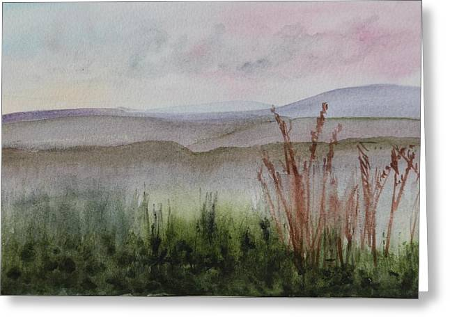 Artists Colony Greeting Cards - Misty Day in NEK Greeting Card by Donna Walsh