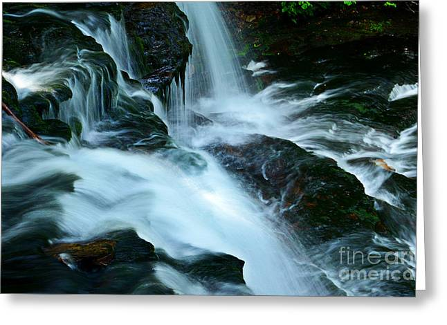Moss Green Greeting Cards - Misty Falls - 72 Greeting Card by Paul W Faust -  Impressions of Light