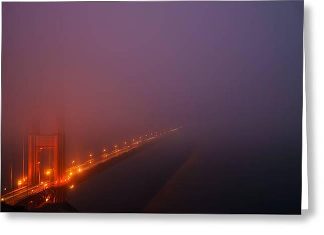 Misty Golden Gate  Greeting Card by Francesco Emanuele Carucci