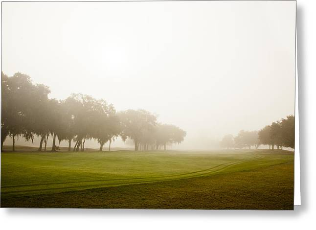 Fog At Sea Greeting Cards - Misty Golf Course II Greeting Card by Barbara Marie Kraus