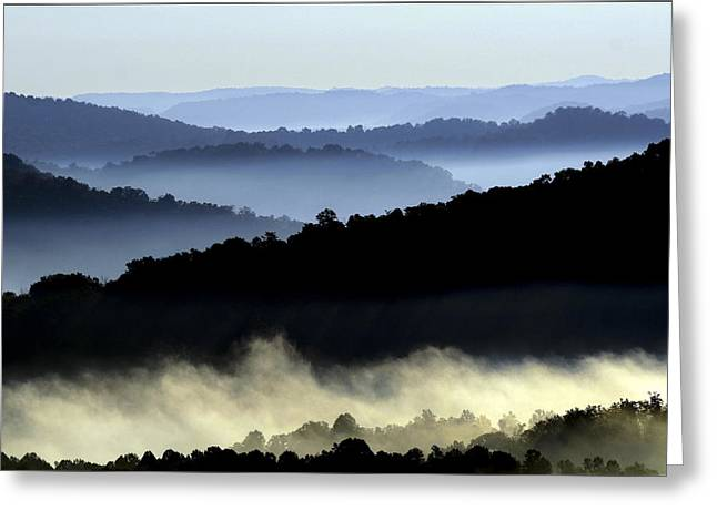 Misty Hollows Greeting Card by Van  Slider