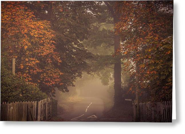Clinton Greeting Cards - Misty junction Greeting Card by Chris Fletcher