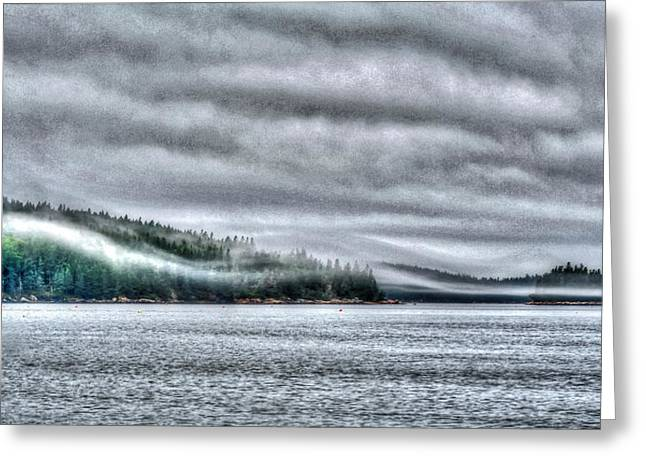 Haut Digital Greeting Cards - Misty Maine Greeting Card by Murray Dellow