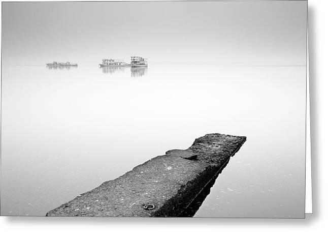 Misty Mist On Loch Lomond Greeting Card by Grant Glendinning