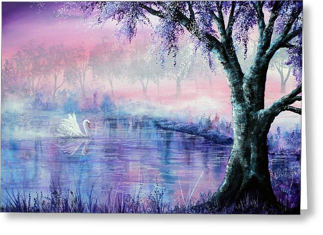 Kinkade Greeting Cards - Misty Moment Greeting Card by Ann Marie Bone