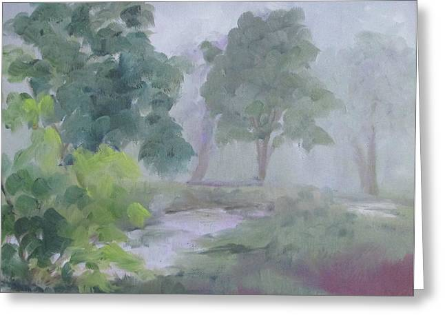 Thomasville Greeting Cards - Misty Morning at Hardscrabble Greeting Card by Susan Richardson