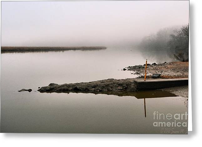 Susan M. Smith Greeting Cards - Misty Morning Calm Greeting Card by Susan Smith