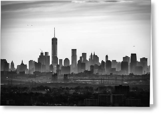 Times Square Digital Art Greeting Cards - Misty morning Greeting Card by Eduard Moldoveanu