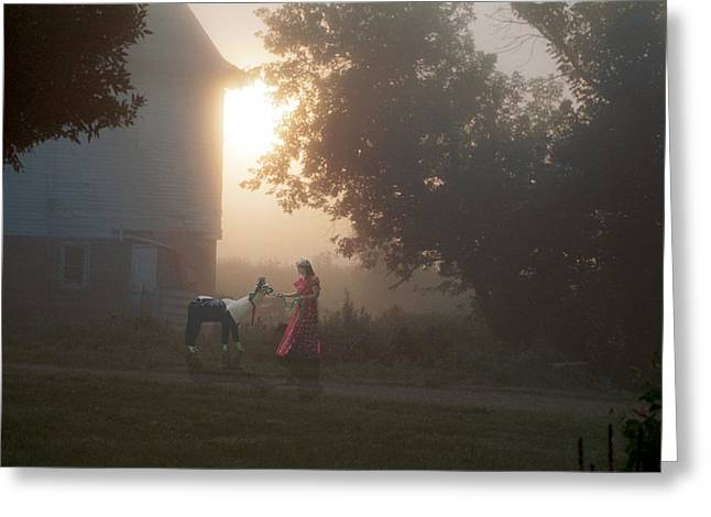 Misty Morning Greeting Card by Jon Lord