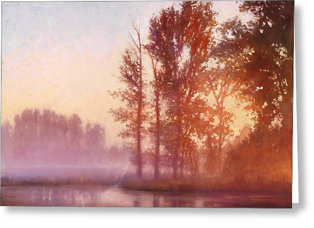 Misty Morning Memory Greeting Card by Michael Orwick