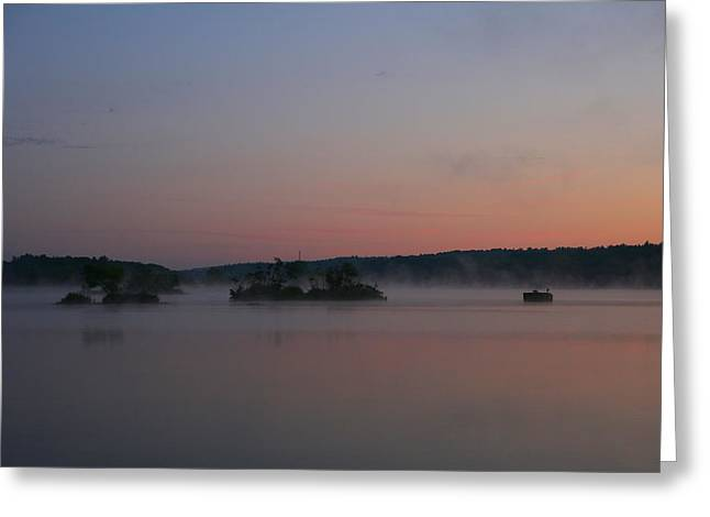 Landscape Photography Greeting Cards - Misty Morning Silence Greeting Card by Neal  Eslinger