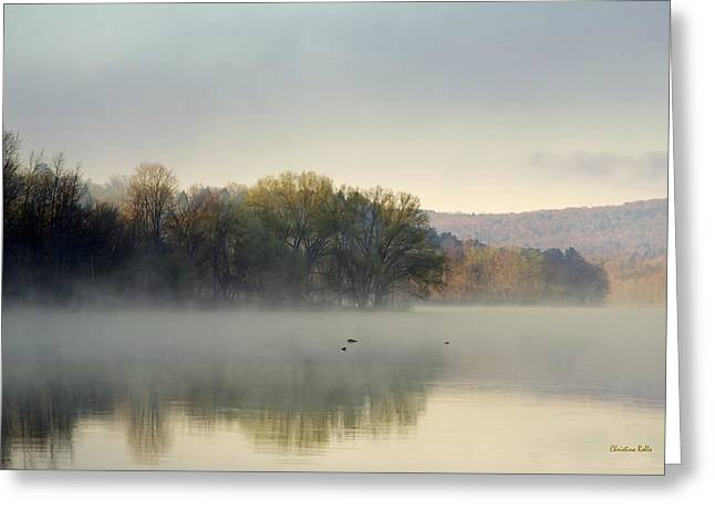 Misty Morning Sunrise Greeting Card by Christina Rollo