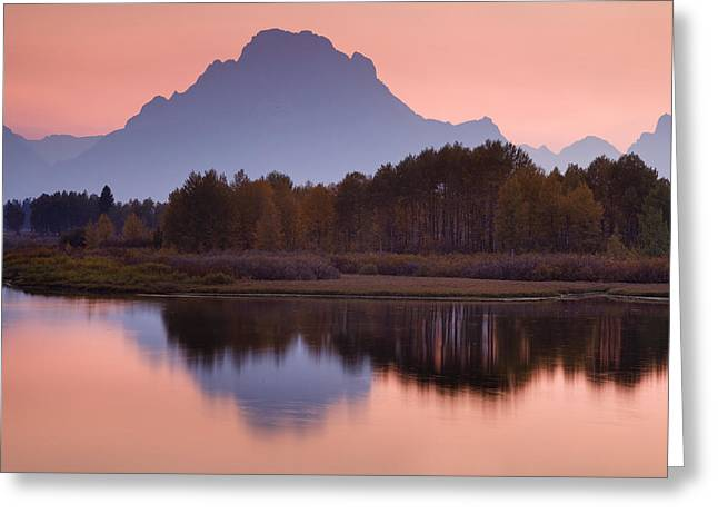 Lake Photography Greeting Cards - Misty Mountain Reflection Greeting Card by Andrew Soundarajan