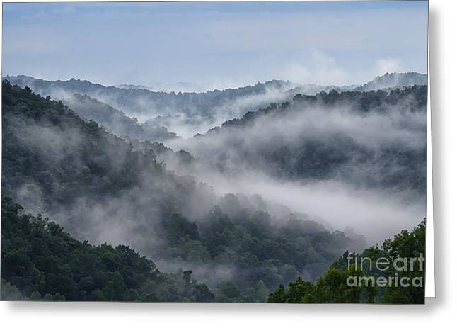 Misty Mountains West Virginia Greeting Card by Thomas R Fletcher