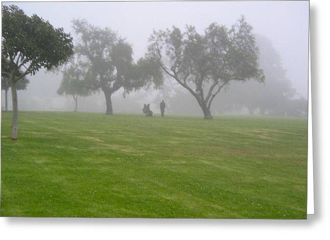Ventura California Greeting Cards - Ghostly Mist Greeting Card by Denise Mazzocco