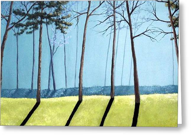 Sofa Size Greeting Cards - Misty Pines Greeting Card by Michael Dillon