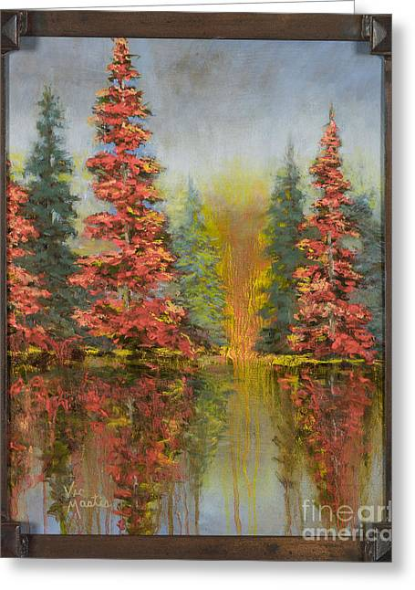 Misty Reflection Greeting Card by Vic  Mastis
