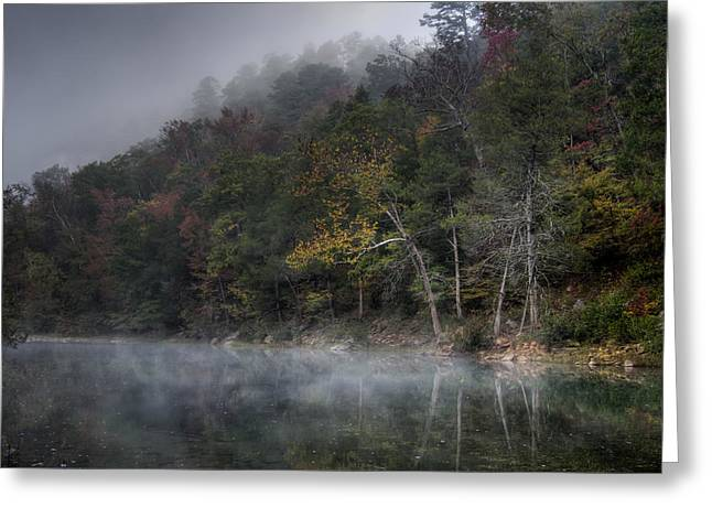 River Mist Greeting Cards - Misty River Greeting Card by James Barber