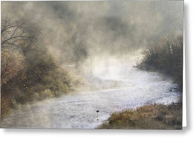 Calistoga Greeting Cards - Misty Russian. Greeting Card by Stan Angel