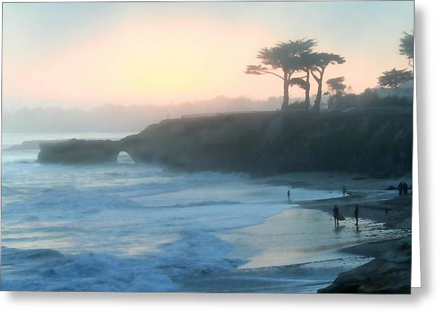 Misty Santa Cruz Greeting Card by Art Block Collections