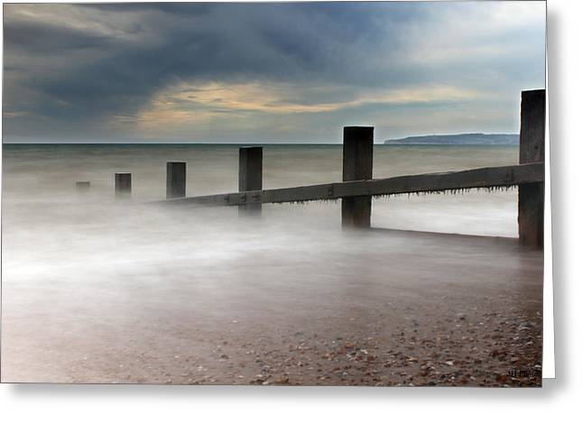 Jay Harrison Greeting Cards - Misty Seascape Greeting Card by Jay Harrison
