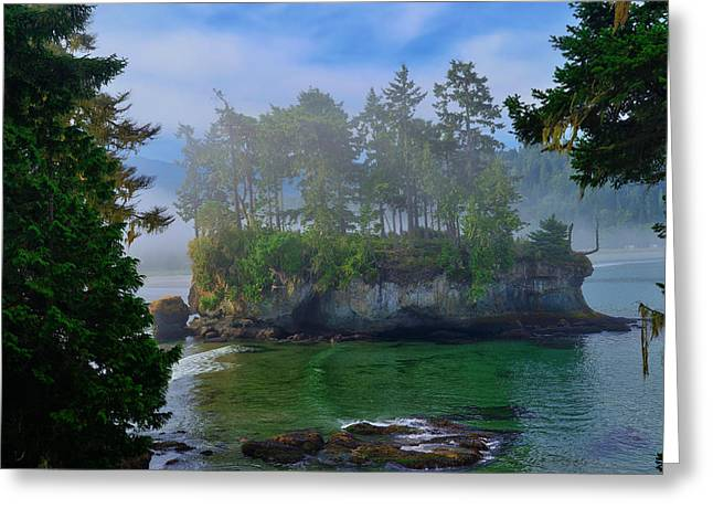 Juan De Fuca Greeting Cards - Misty Seastack Greeting Card by Greg Norrell