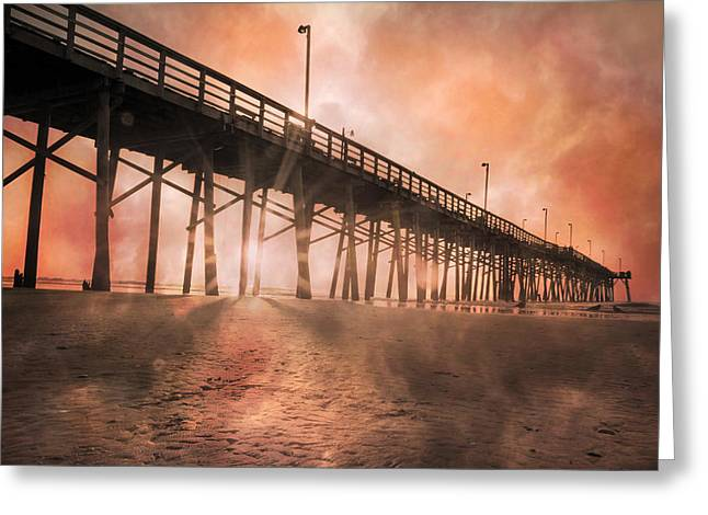 Vacant Greeting Cards - Misty Sunrise Greeting Card by Betsy C  Knapp