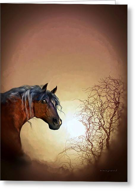 Kelly Mixed Media Greeting Cards - Misty Greeting Card by Valerie Anne Kelly
