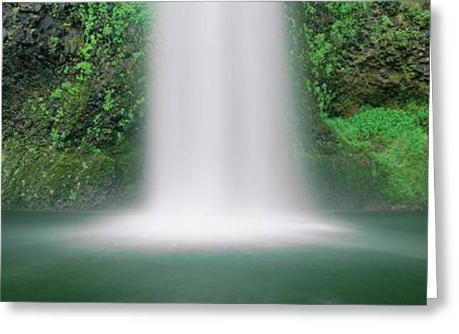 Misty Waterfall Greeting Card by Panoramic Images